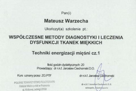 Współczesne metody diagnostyki i leczenia dysfunkcji tkanek miękkich 1